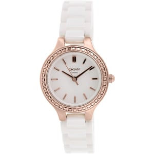 Dkny Women's Chambers NY2251 White Ceramic Quartz Watch