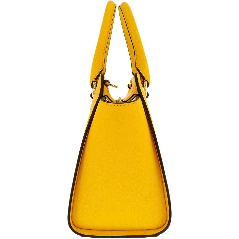 33bd0e1422be Michael Kors Women s Medium Selma Top-Zip Leather Top-Handle Bag Satchel