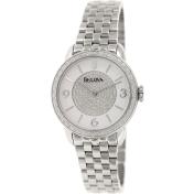 Bulova Women's Diamond 96R184 Silver Stainless-Steel Quartz Watch