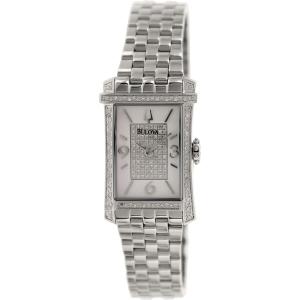Bulova Women's Diamond 96R188 Silver Stainless-Steel Quartz Watch