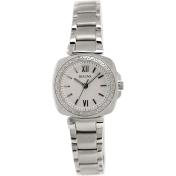 Bulova Women's Diamond 96R200 Silver Stainless-Steel Quartz Watch