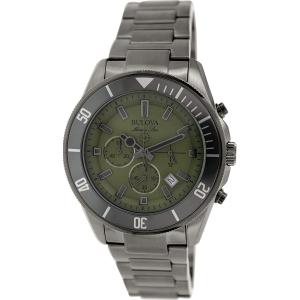 Bulova Men's Marine Star 98B206 Gunmetal Stainless-Steel Quartz Watch