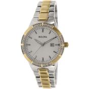 Bulova Women's Diamond 98R169 French Roast Stainless-Steel Quartz Watch