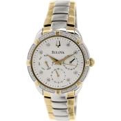 Bulova Men's Diamond 98R177 Silver Stainless-Steel Quartz Watch