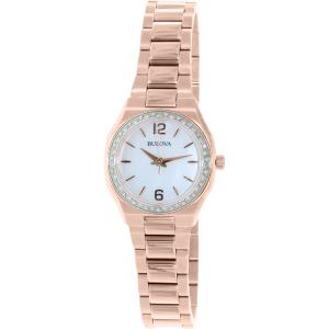 Bulova Women's Diamond 98R205 Rose Gold Stainless-Steel Quartz Watch