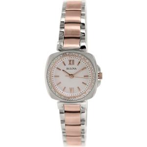 Bulova Women's Diamond 98R206 Rose Gold Stainless-Steel Quartz Watch