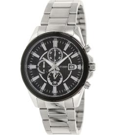 Citizen Men's Chronograph AN3561-59E Black Stainless-Steel Analog Quartz Watch