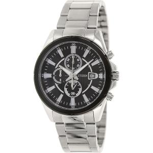 Citizen Men's Chronograph AN3561-59E Silver Stainless-Steel Analog Quartz Watch