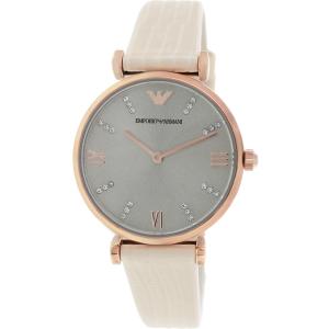 Emporio Armani Women's Retro AR1681 Champagne Leather Quartz Watch