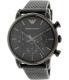 Emporio Armani Men's Classic AR1737 Black Leather Leather Quartz Watch - Main Image Swatch