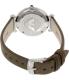 Emporio Armani Women's Retro AR1768 Grey Leather Quartz Watch - Back Image Swatch