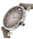 Emporio Armani Women's Retro AR1768 Grey Leather Quartz Watch - Side Image Swatch