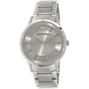 Emporio Armani Men's Classic AR2478 Silver Stainless-Steel Swiss Quartz Watch