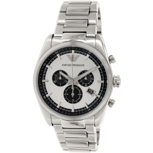 Emporio Armani Men's Sportivo AR6007 Silver Stainless-Steel Swiss Quartz Watch