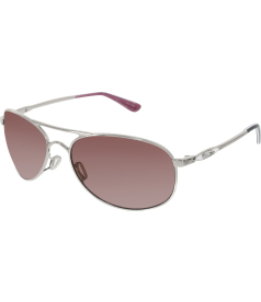 Oakley Women's Polarized Given OO4068-07 Silver Aviator Sunglasses
