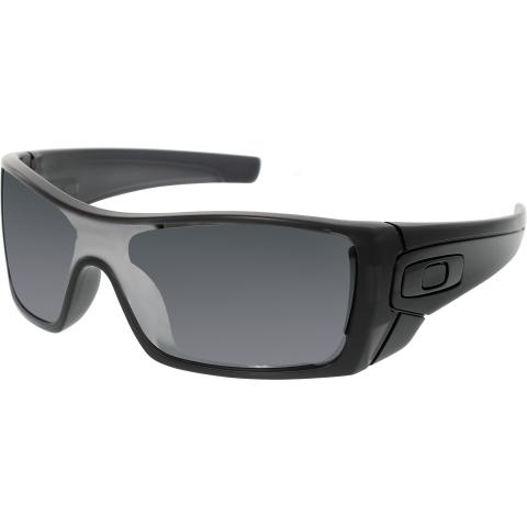 Oakley Men's Polarized Batwolf OO9101-35 Black Wrap Sunglasses