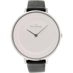Skagen Women's Ditte SKW2261 Black Leather Quartz Watch