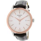 Tissot Men's Classic T912.410.46.011.00 Black Leather Swiss Quartz Watch