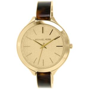 Michael Kors Women's Slim Runway MK4293 Gold Stainless-Steel Quartz Watch