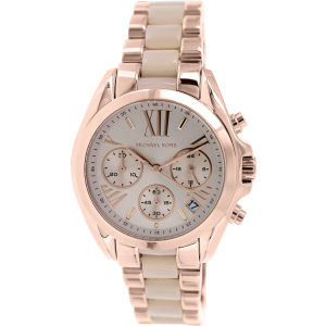 Michael Kors Women's Bradshaw MK6066 Rose-Gold Stainless-Steel Quartz Watch