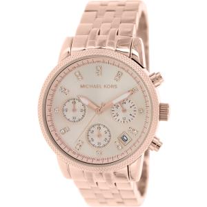 Michael Kors Women's Ritz MK6077 Rose Gold Stainless-Steel Quartz Watch