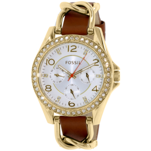 Fossil Women's ES3723 Brown Leather Quartz Watch