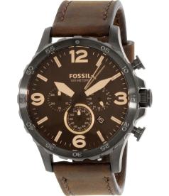 Fossil Men's JR1487 Brown Leather Quartz Watch