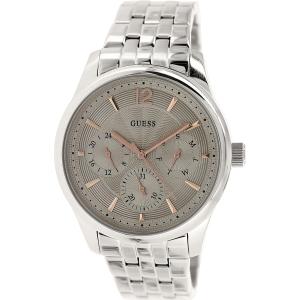 Guess Men's U0474G2 Silver Stainless-Steel Quartz Watch