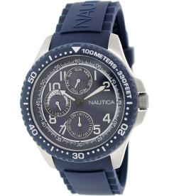 Nautica Men's Nsr 200 N13686G Blue Rubber Quartz Watch