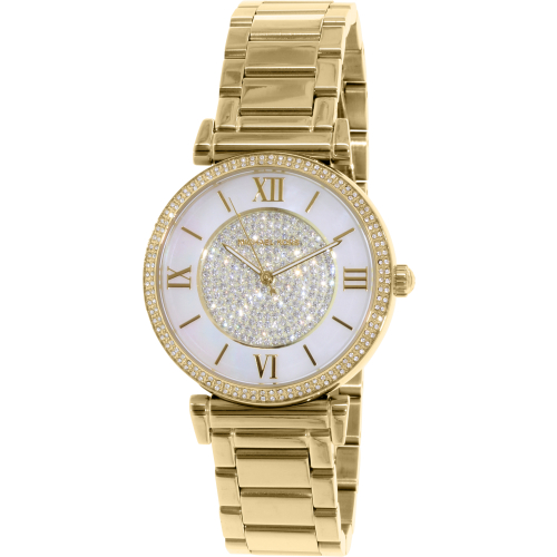 a97a5bc5746e ... UPC 796483118089 product image for Michael Kors Women s MK3332 Gold  Stainless-Steel Quartz Watch