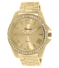 Geneva Platinum Women's 2372.GOLD.BONE Gold Metal Quartz Watch