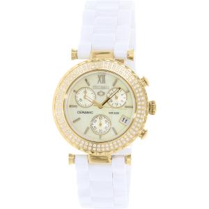 Precimax Women's Lily Elite Crystal PX13375 White Ceramic Quartz Watch