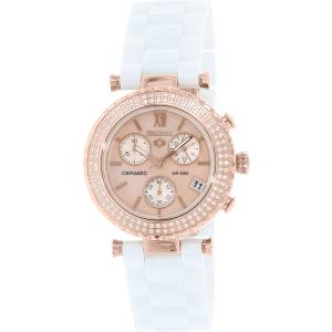 Precimax Women's Lily Elite Crystal PX13376 White Ceramic Quartz Watch