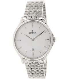 Festina Men's Classic F16744/2 Silver Stainless-Steel Quartz Watch