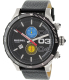 Diesel Men's Double Down DZ4331 Black Leather Quartz Watch - Main Image Swatch