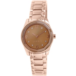 Esprit Women's ES106552006 Rose Gold Stainless-Steel Analog Quartz Watch