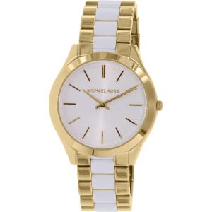 Michael Kors Women's Slim Runway MK4295 Gold Stainless-Steel Quartz Watch
