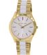 Michael Kors Women's Slim Runway MK4295 Gold Stainless-Steel Quartz Watch - Main Image Swatch