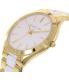 Michael Kors Women's Slim Runway MK4295 Gold Stainless-Steel Quartz Watch - Side Image Swatch