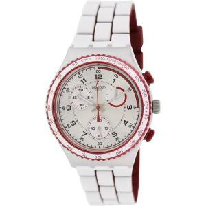 Swatch Men's Irony YCS1012 White Silicone Swiss Quartz Watch