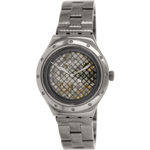 Swatch Men's Irony YAB101G Grey Stainless-Steel Swiss Quartz Watch