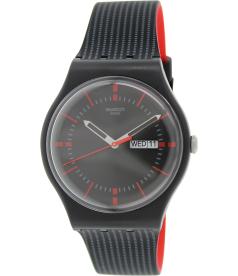 Swatch Men's Originals SUOB714 Black Silicone Swiss Quartz Watch