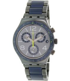 Swatch Men's Irony YCM4006AG Grey Aluminum Swiss Quartz Watch