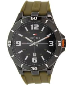 Tommy Hilfiger Men's 1791065 Brown Rubber Analog Quartz Watch