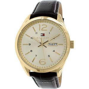 Tommy Hilfiger Men's 1791059 Brown Leather Analog Quartz Watch