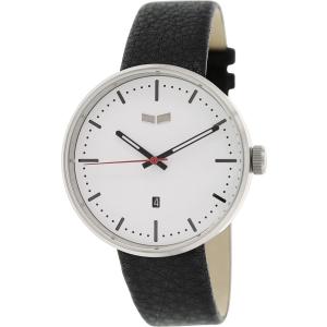 Vestal Men's Roosevelt ROS3L008 Black Leather Quartz Watch