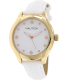 Nautica Women's Nct 18 N11633M White Leather Automatic Watch - Main Image Swatch