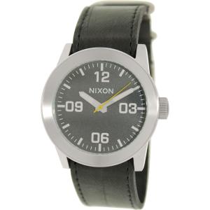 Nixon Men's Private A0491892 Black Leather Quartz Watch