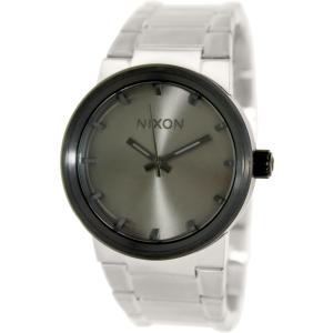 Nixon Men's Cannon A1601762 Silver Stainless-Steel Quartz Watch