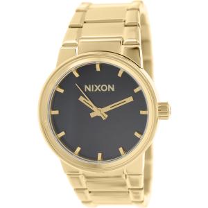 Nixon Men's Cannon A160510 Gold Stainless-Steel Quartz Watch